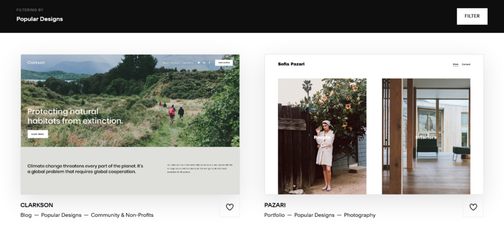 Squarespace is quick and easy to get started with.